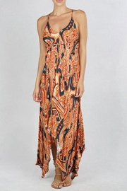 Lovestitch Geo Print Backless-Dress - Front cropped