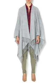 Lovestitch Grey Open Poncho - Front cropped