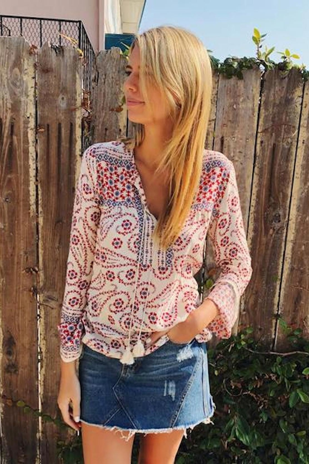 Lovestitch Gypsy Flower Top - Side Cropped Image