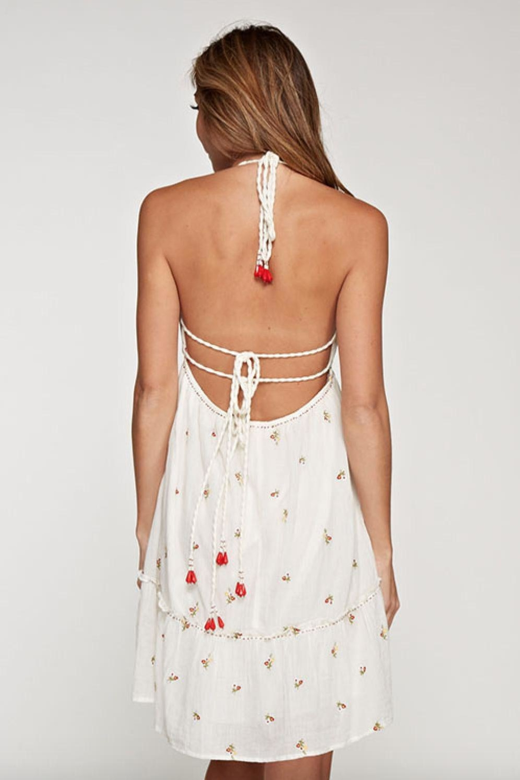 Lovestitch Halter Embroidered Dress - Side Cropped Image