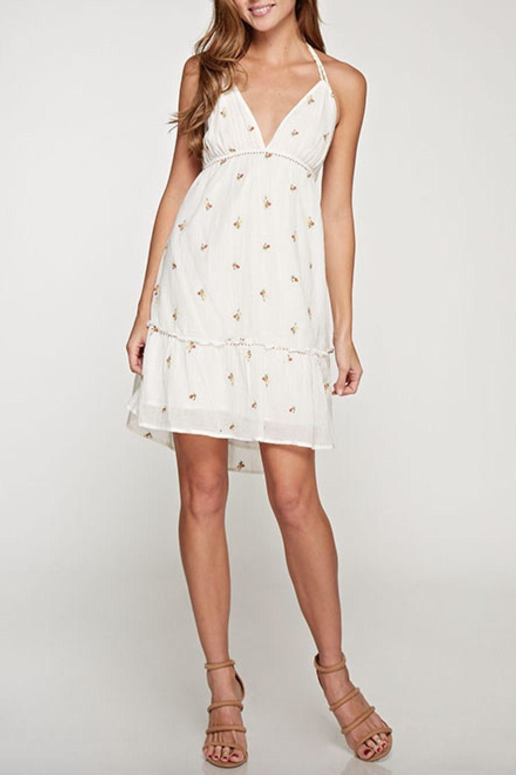 Lovestitch Halter Embroidered Dress - Main Image