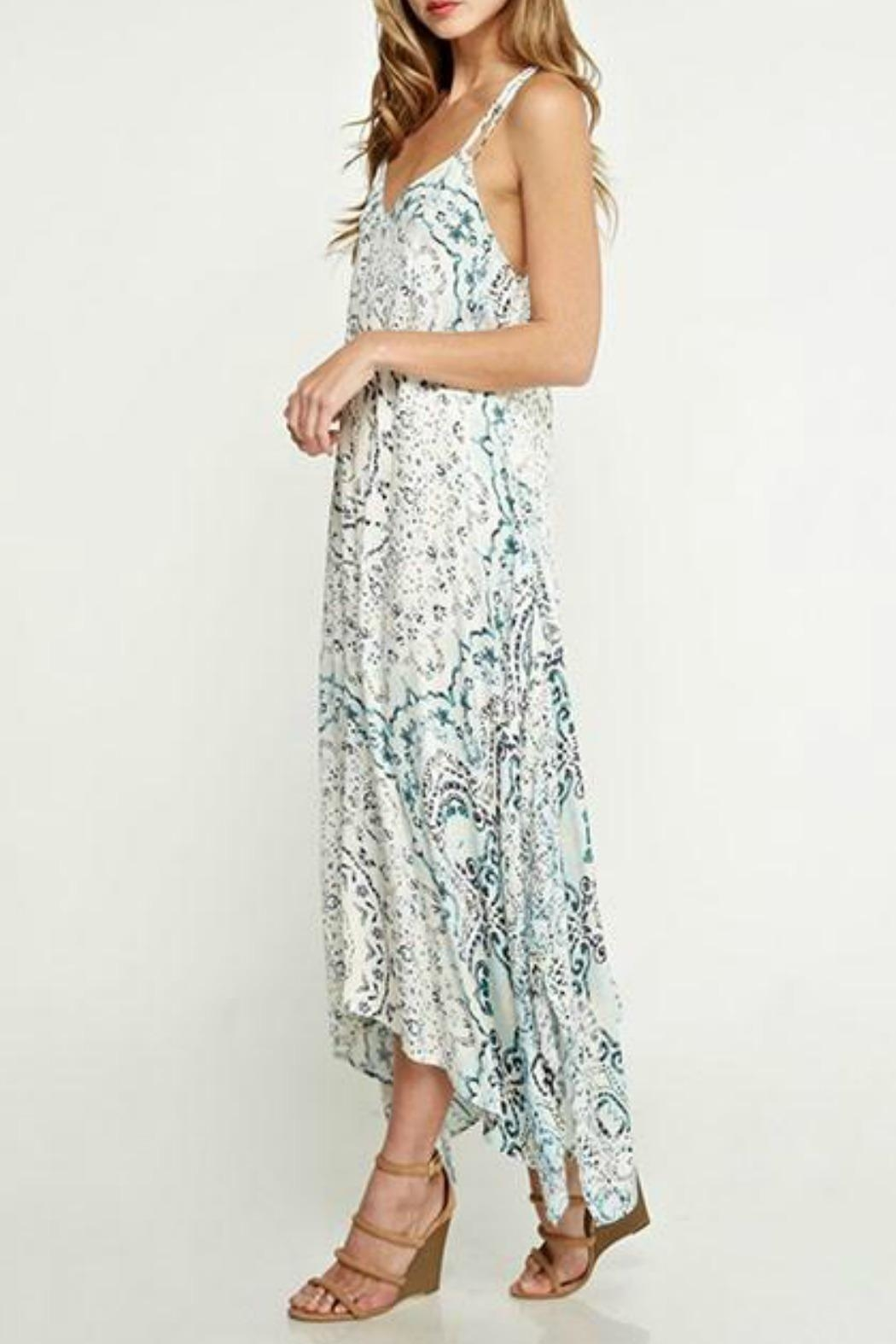 Lovestitch Handkerchief Maxi Dress - Side Cropped Image