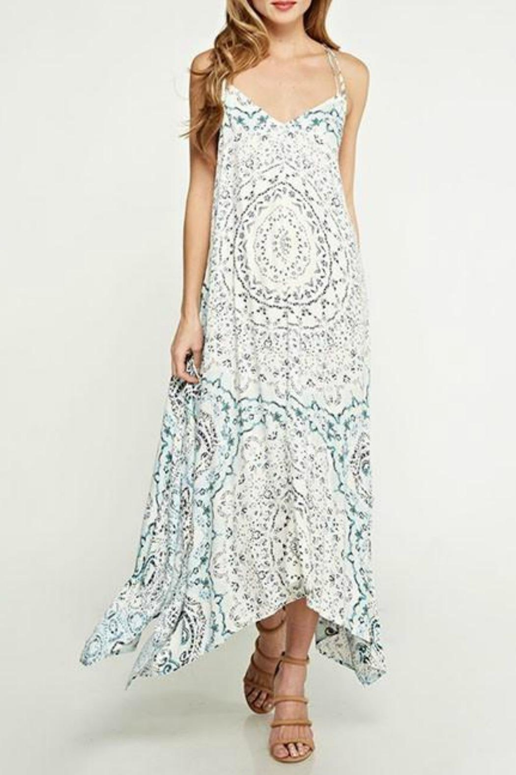 Lovestitch Handkerchief Maxi Dress - Front Cropped Image