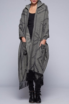 Lovestitch Diamond Patterned Hooded Shawl - Product List Image