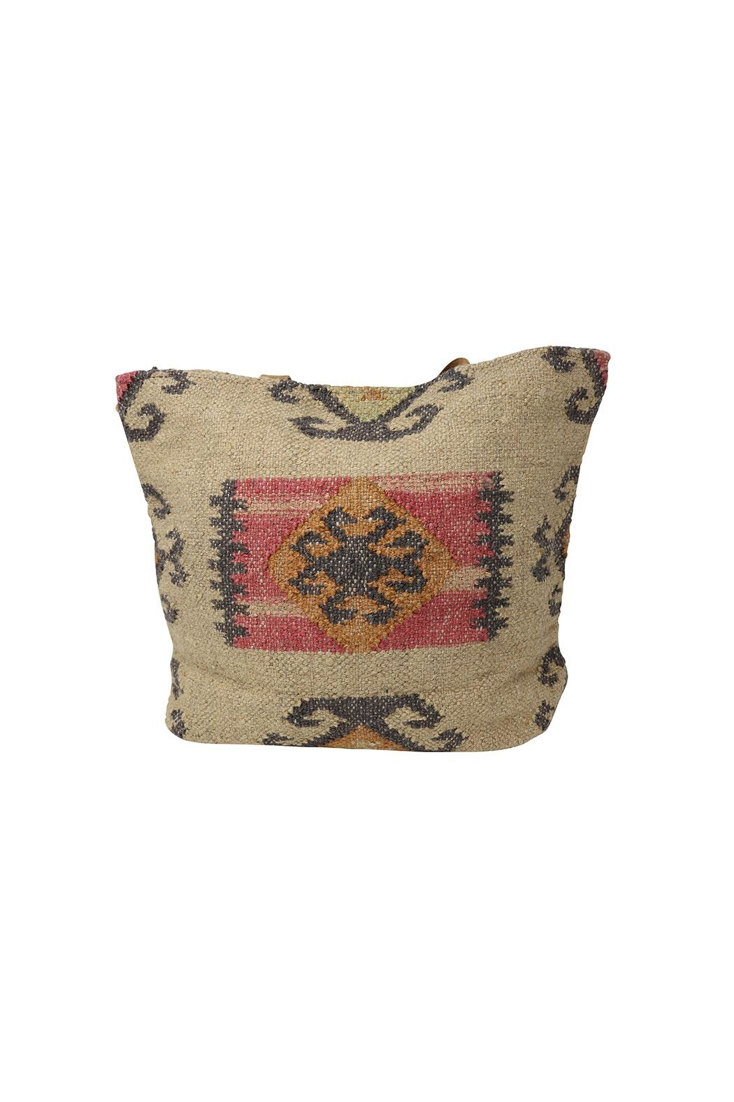 Lovestitch Indian Jute Tote - Side Cropped Image