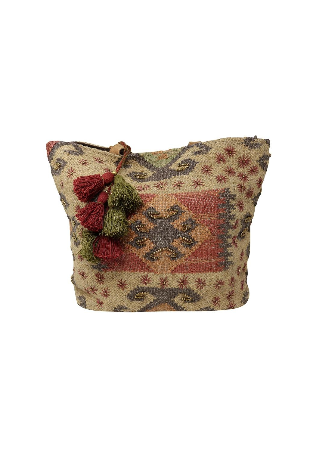 Lovestitch Indian Jute Tote - Back Cropped Image