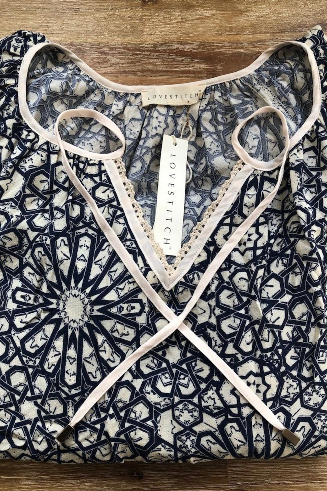 Lovestitch Lace Collar Blouse - Front Full Image