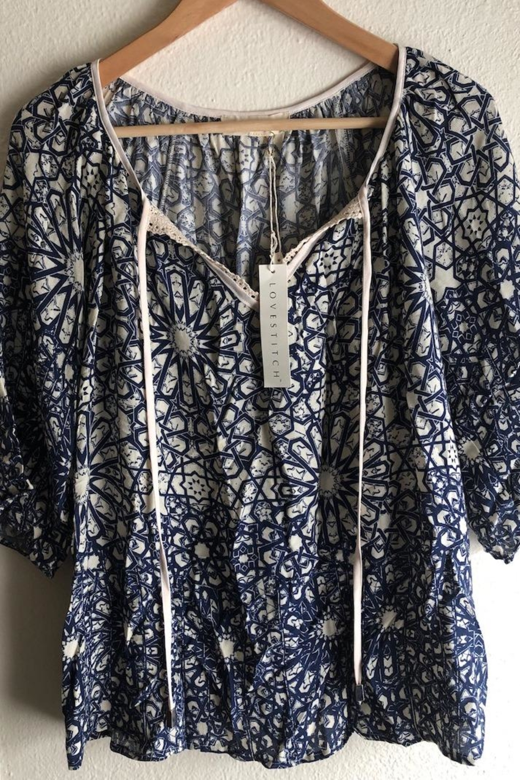 Lovestitch Lace Collar Blouse - Main Image