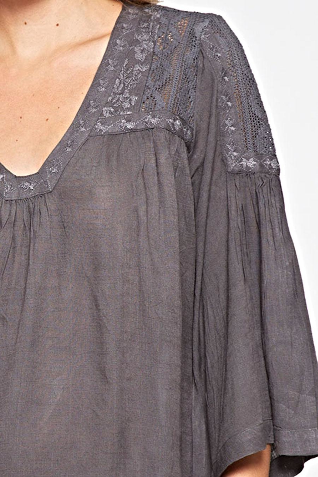 Lovestitch Lace Embroidered Top - Side Cropped Image