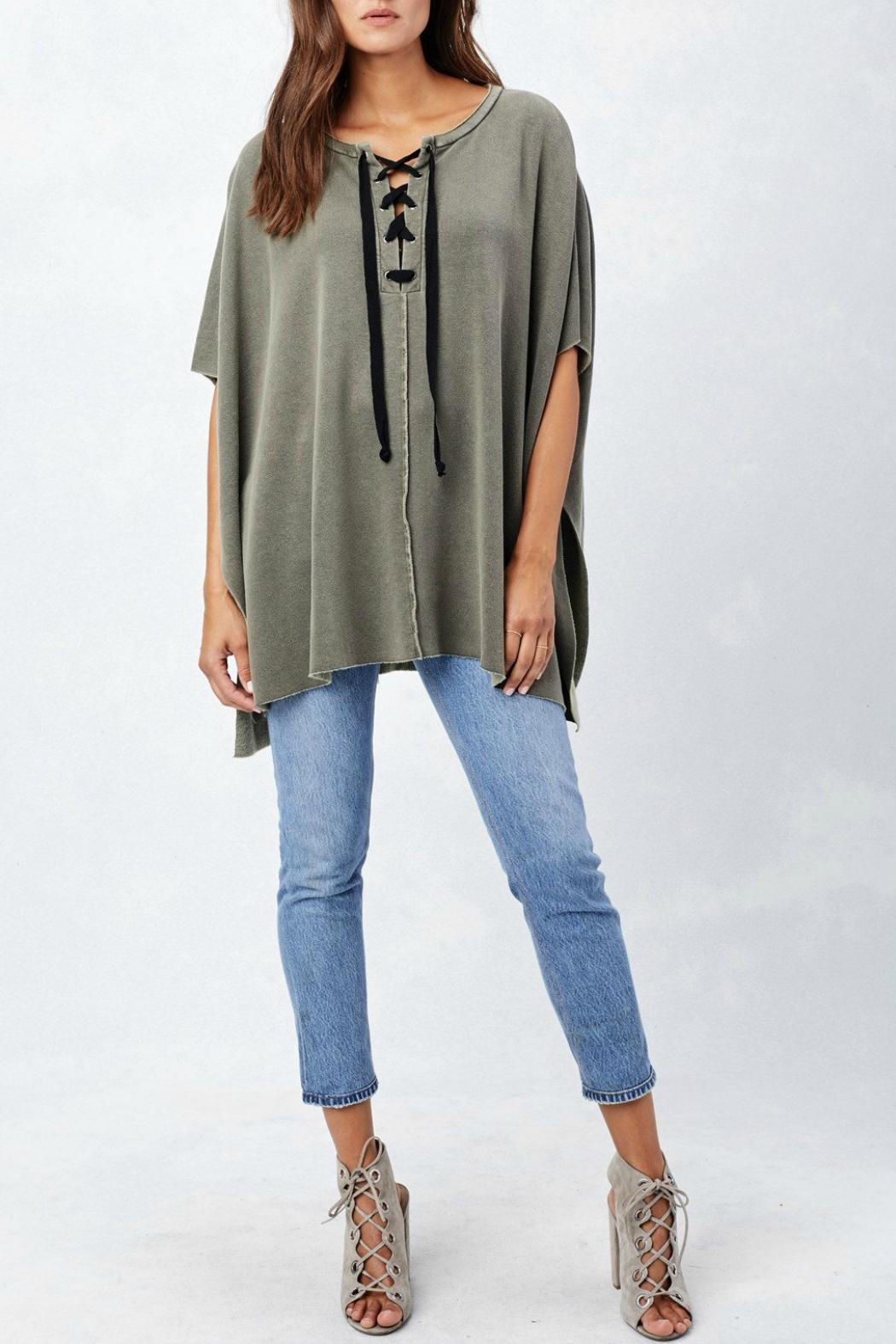 Lovestitch Lace Up Poncho - Front Full Image