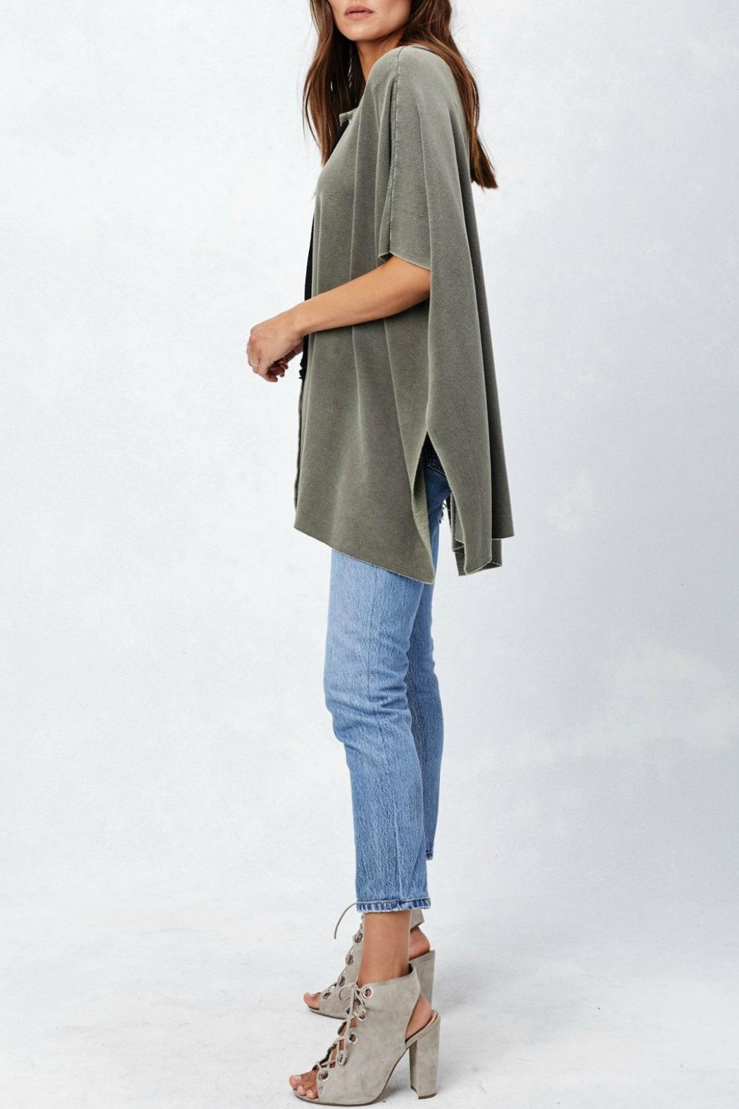 Lovestitch Lace Up Poncho - Side Cropped Image