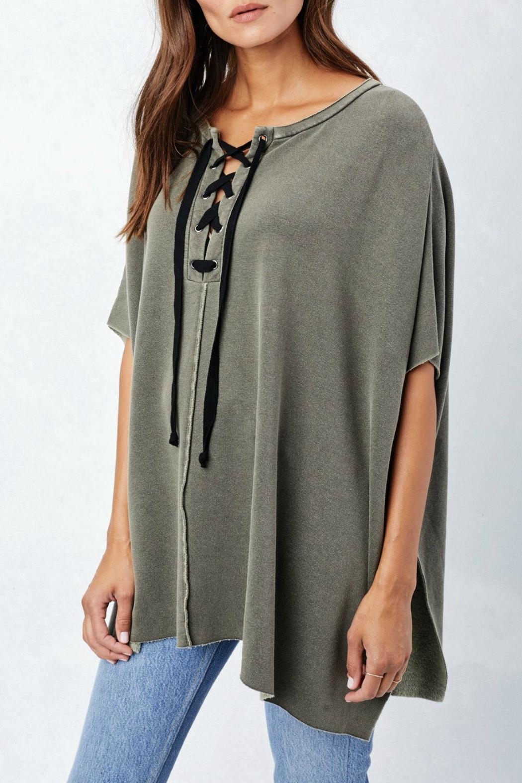 Lovestitch Lace Up Poncho - Main Image