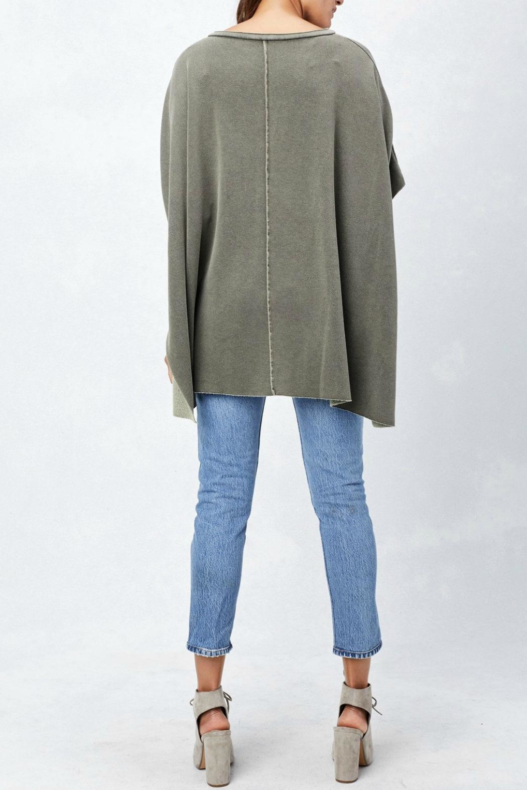 Lovestitch Lace Up Poncho - Back Cropped Image