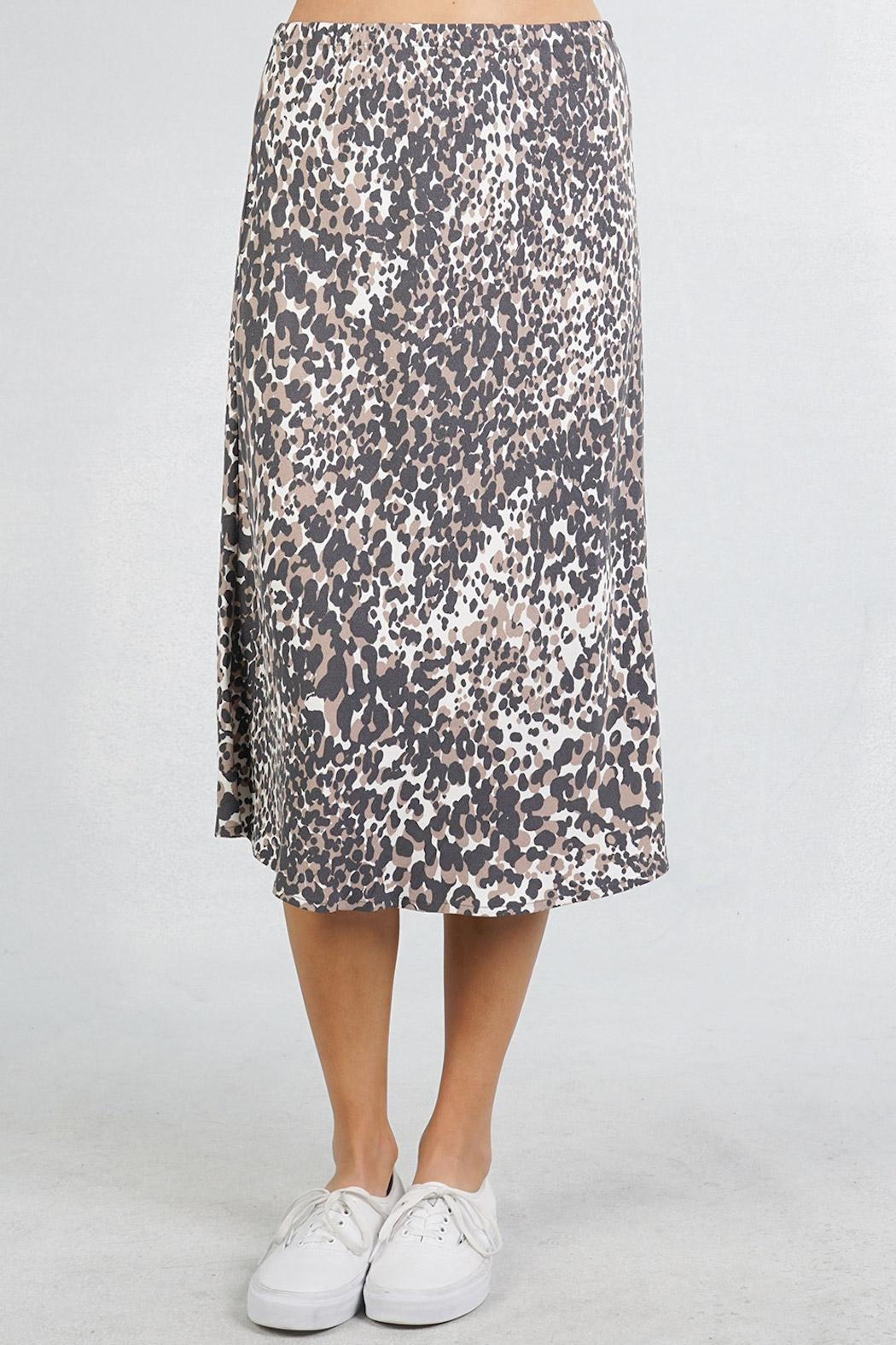 Lovestitch Leopard Midi Skirt - Front Full Image
