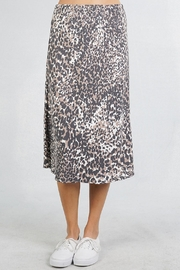 Lovestitch Leopard Midi Skirt - Front full body