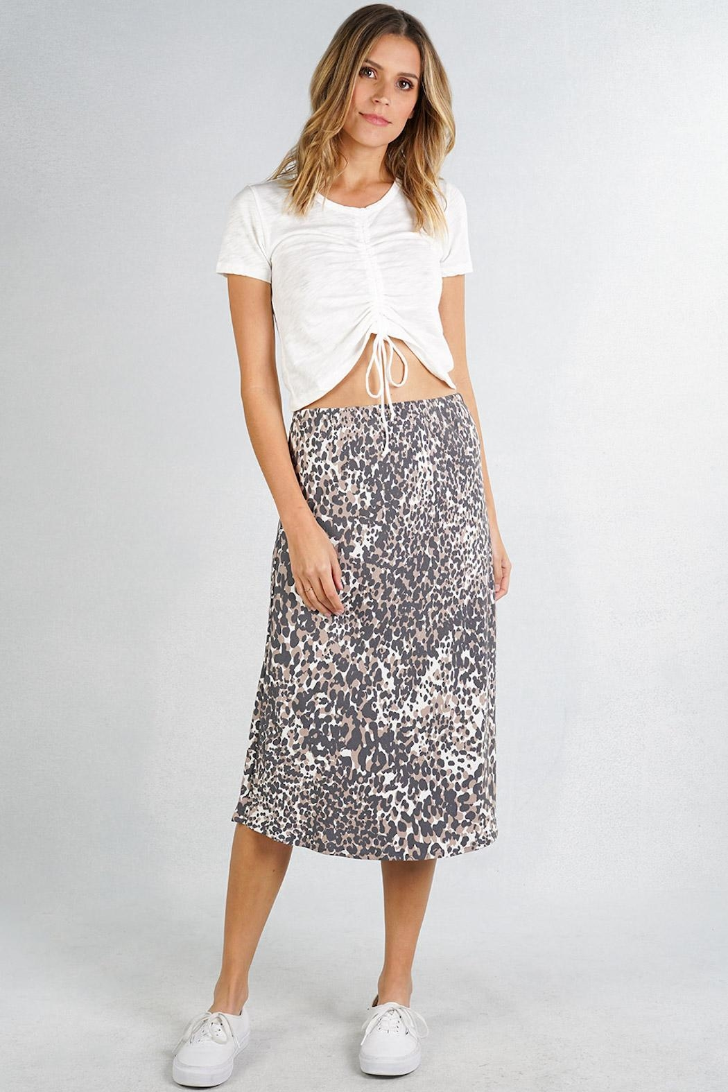 Lovestitch Leopard Midi Skirt - Main Image