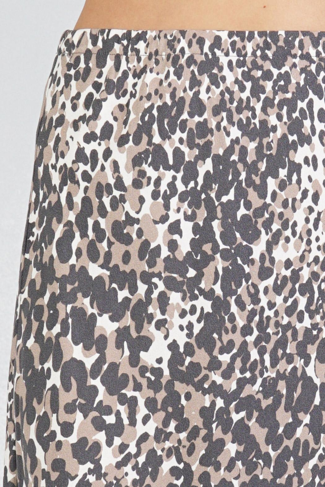 Lovestitch Leopard Midi Skirt - Back Cropped Image