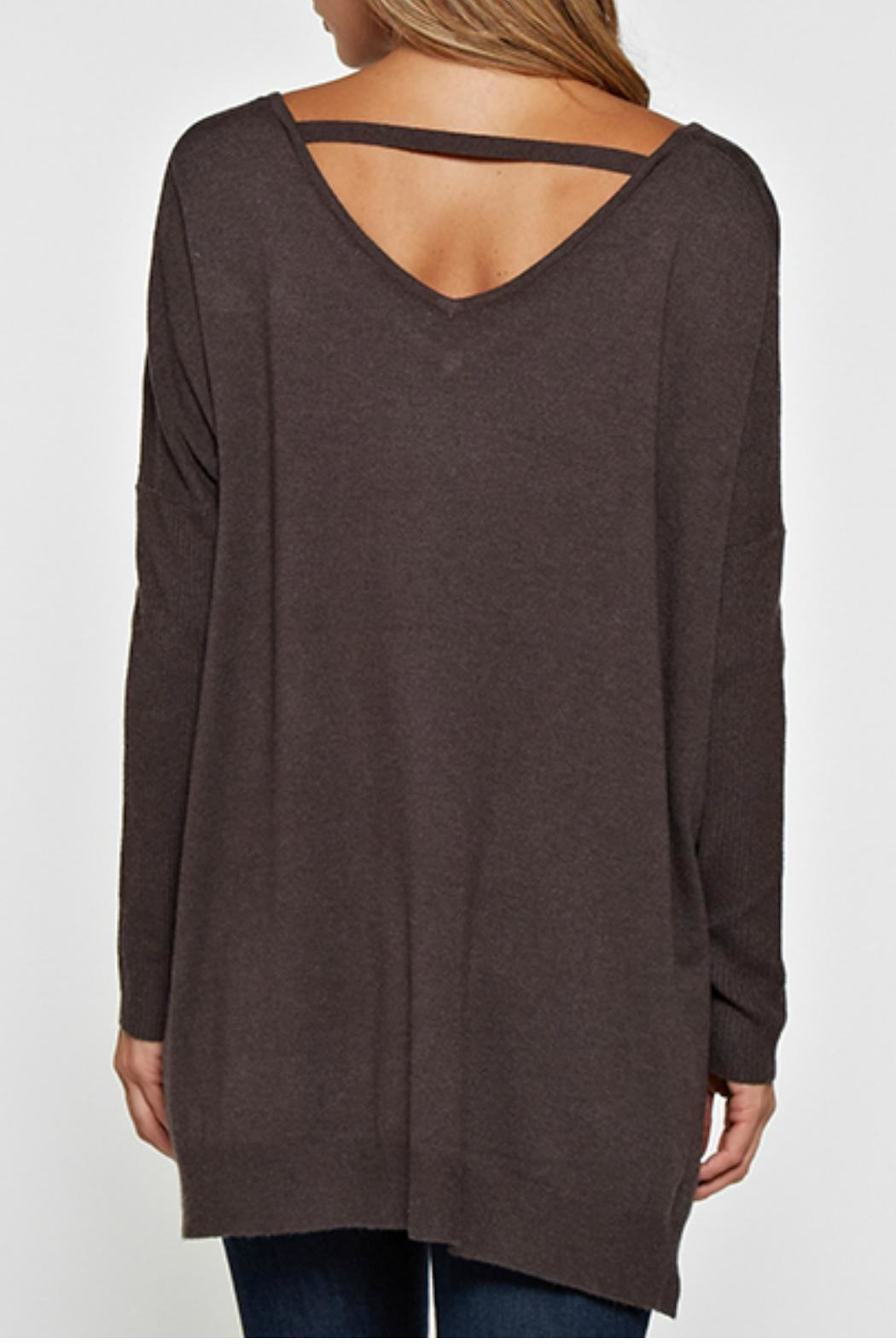 Lovestitch Lightweight Oversized Sweater - Side Cropped Image