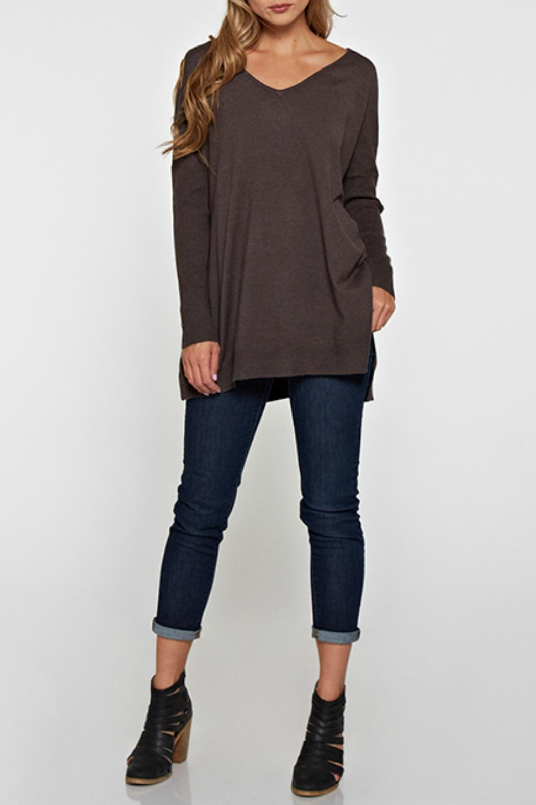 Lovestitch Lightweight Oversized Sweater - Front Cropped Image
