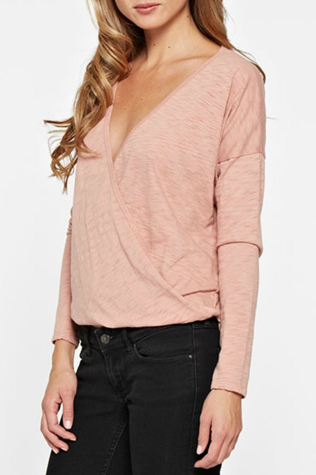Lovestitch Long Sleep Wrap Top - Side Cropped Image