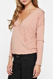 Lovestitch Long Sleep Wrap Top - Side cropped