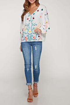 Shoptiques Product: Long-Sleeve Embroidered Top