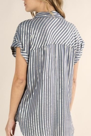Lovestitch Metallic Striped Button-Up - Side cropped