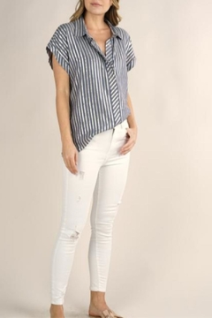 Lovestitch Metallic Striped Button-Up - Product List Image