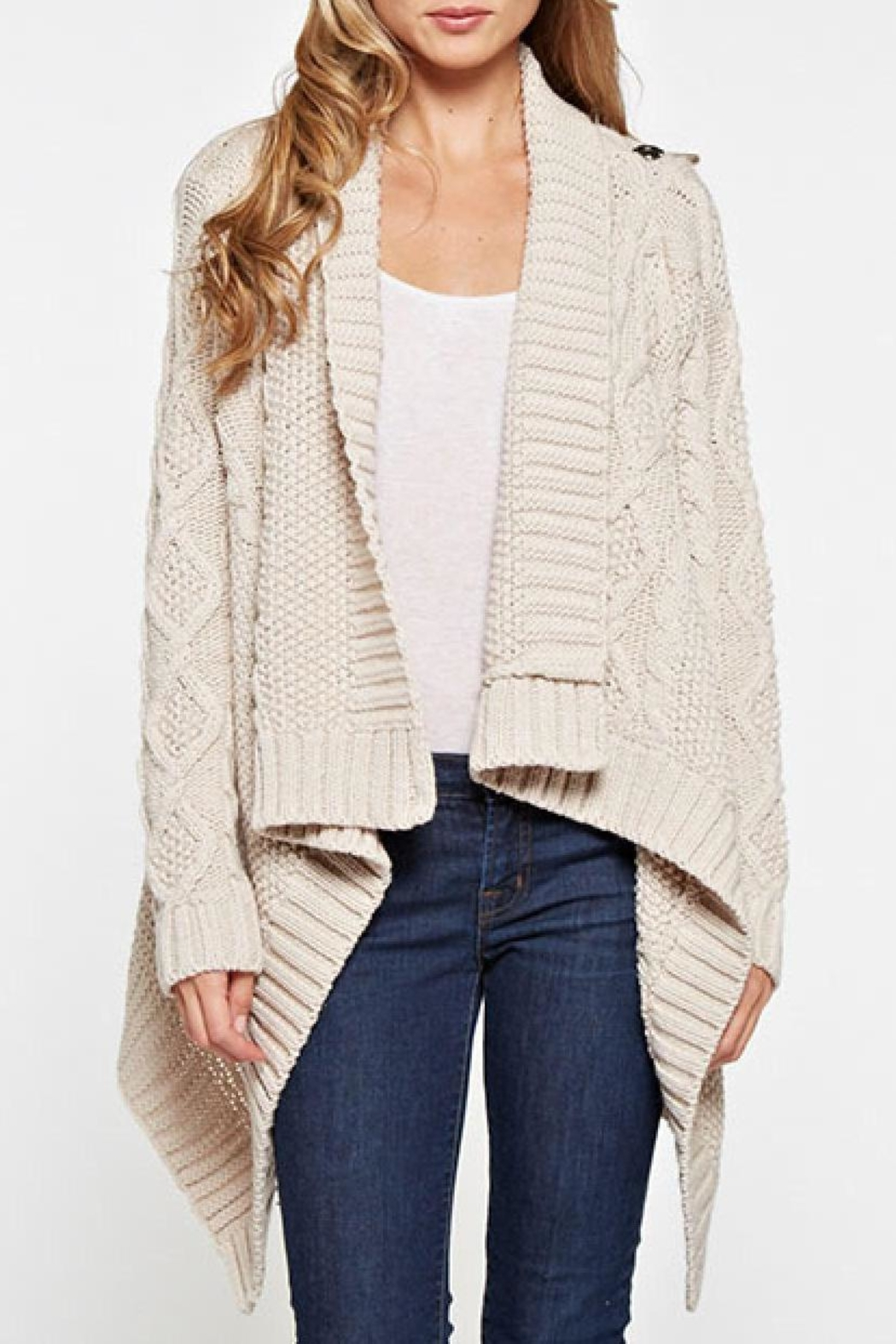 Lovestitch Mia Wrap Sweater - Side Cropped Image