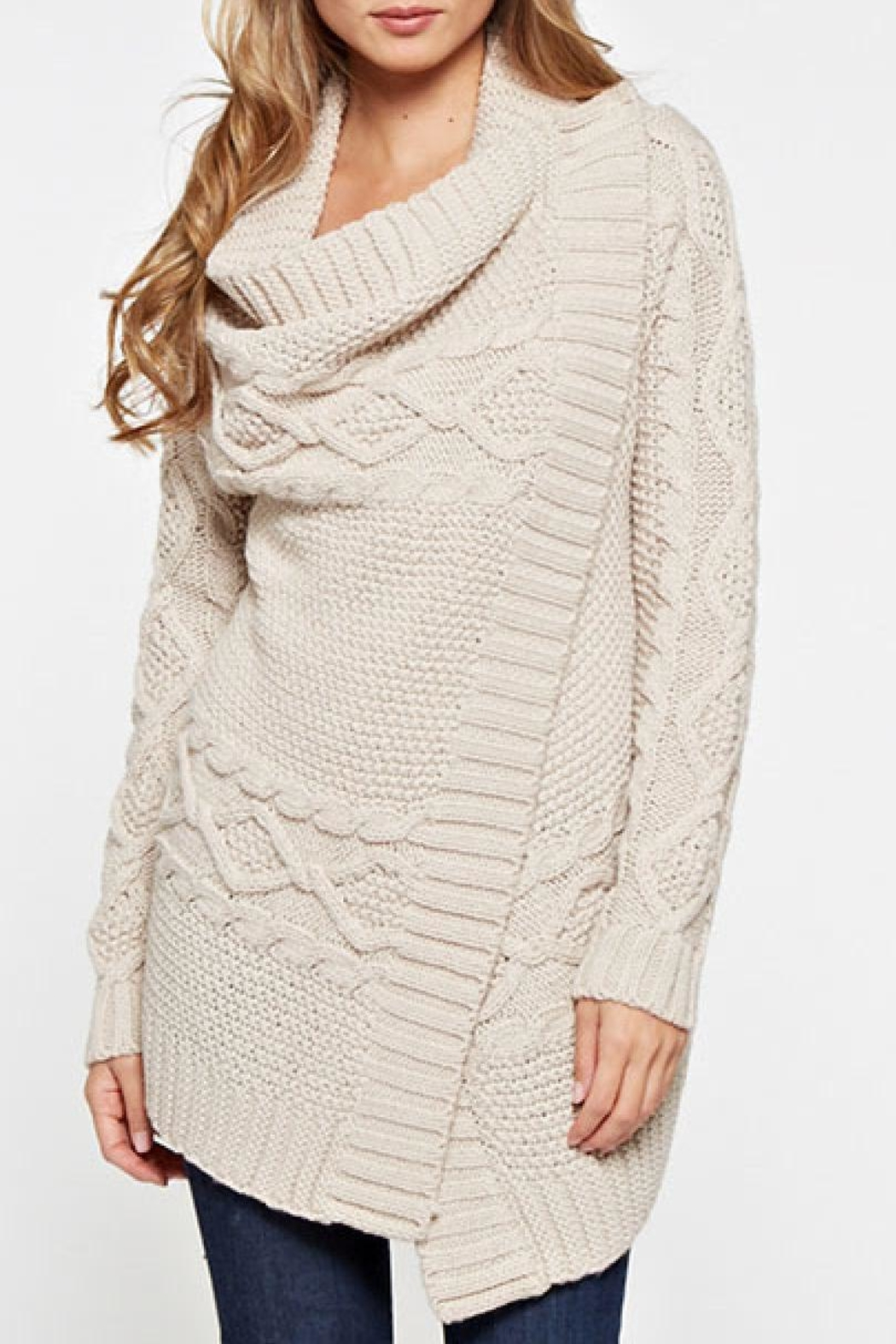 Lovestitch Mia Wrap Sweater - Front Full Image