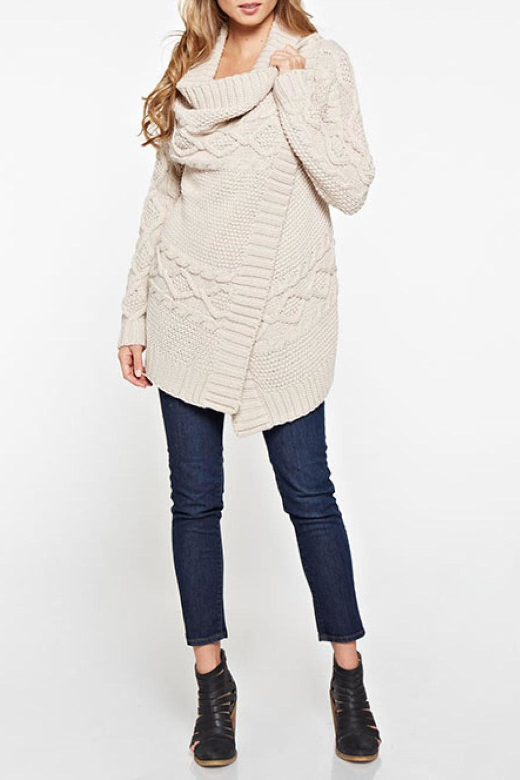 Lovestitch Mia Wrap Sweater - Front Cropped Image
