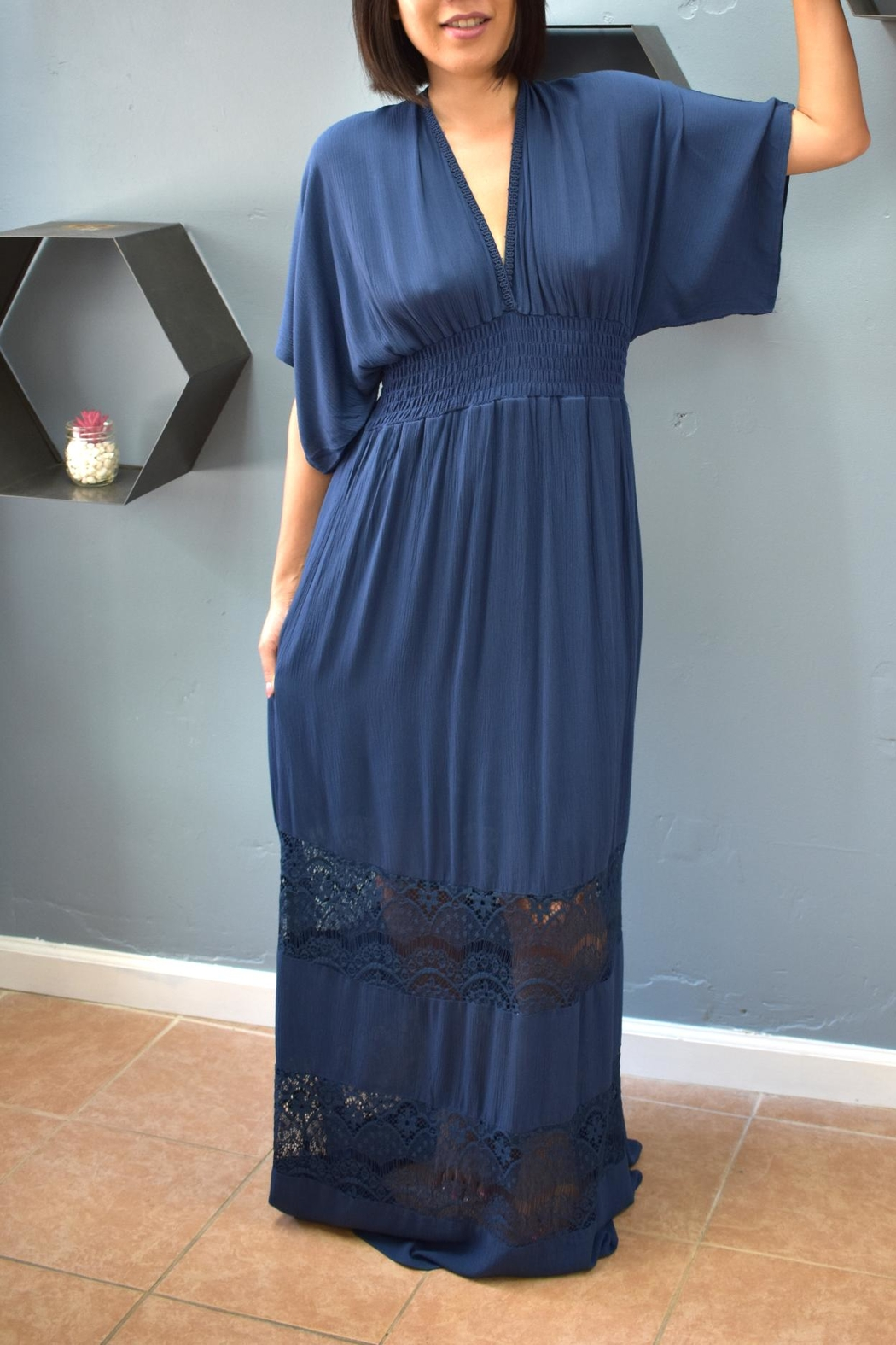 Lovestitch Midnight Maxi Dress - Front Cropped Image
