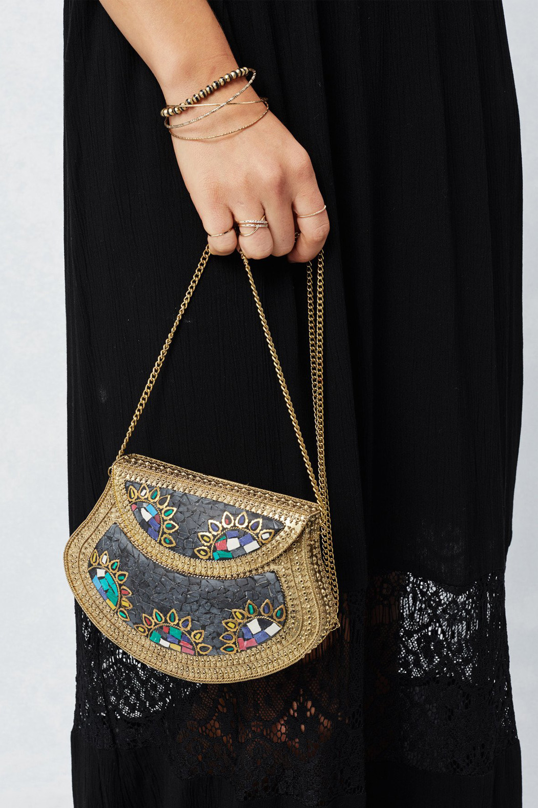 Lovestitch Mosaic Evening Bag - Side Cropped Image