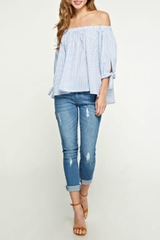Lovestitch Off The Shoulder Striped Top - Product Mini Image