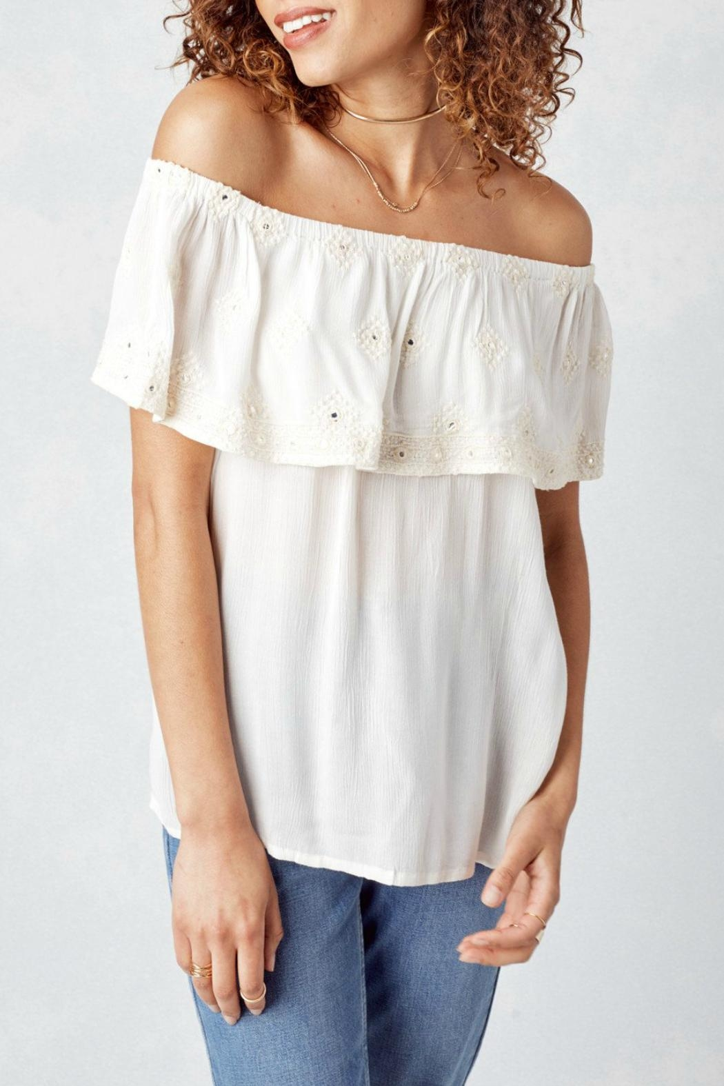 Lovestitch Off White Blouse - Main Image