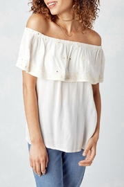Lovestitch Off White Blouse - Front cropped