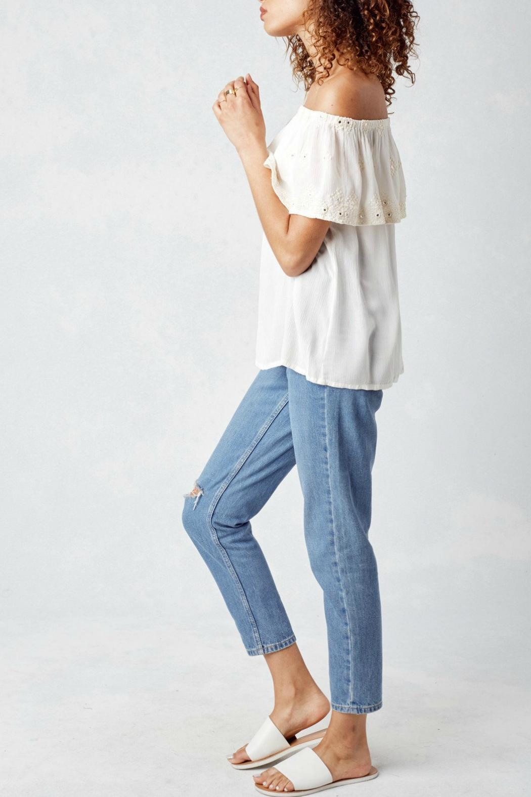 Lovestitch Off White Blouse - Side Cropped Image