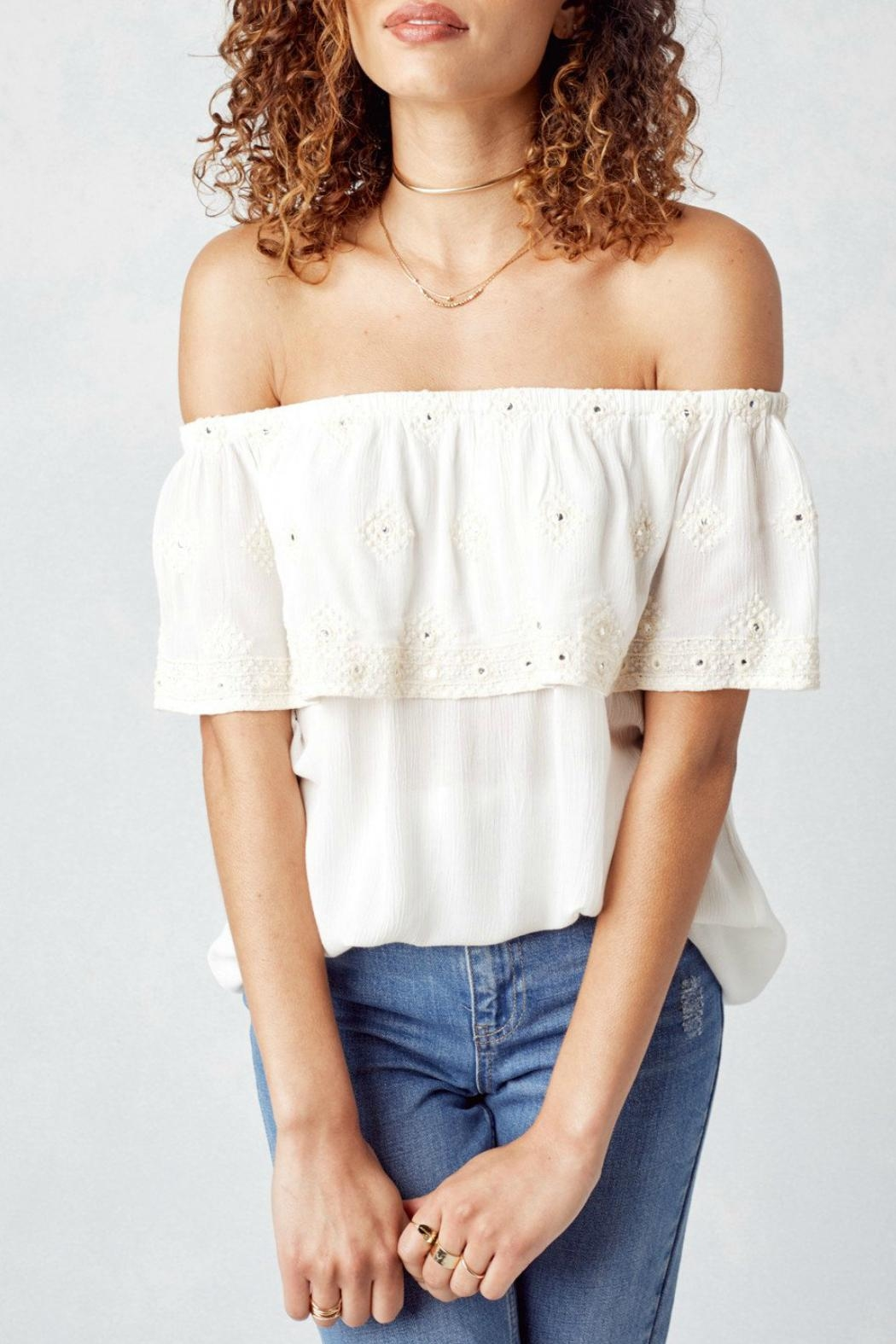 Lovestitch Off White Blouse - Front Full Image