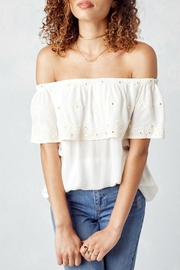 Lovestitch Off White Blouse - Front full body