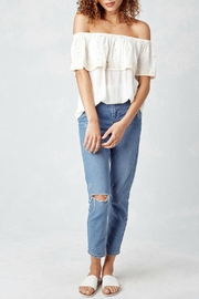 Lovestitch Off White Blouse - Back cropped