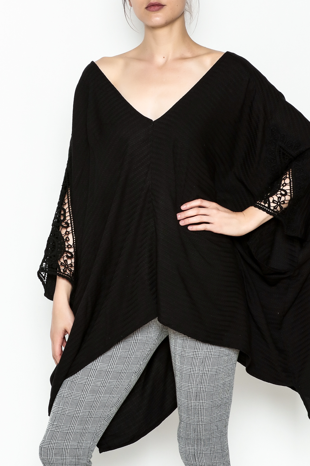 Lovestitch Oversize Dolman Tunic - Front Cropped Image