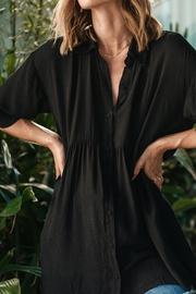 Lovestitch Oversized Button Down Tunic Top - Front full body
