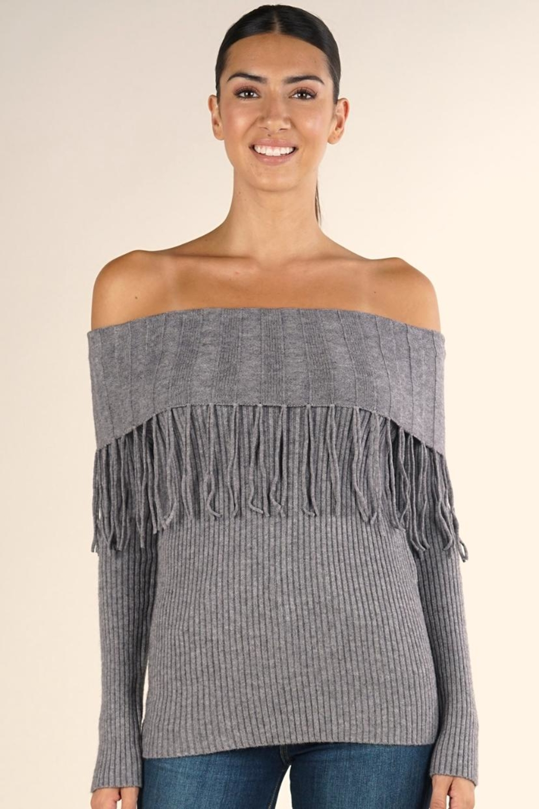 Lovestitch Oversized Off-Shoulder Sweater - Main Image