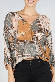 Lovestitch Patchwork Floral Top - Product Mini Image