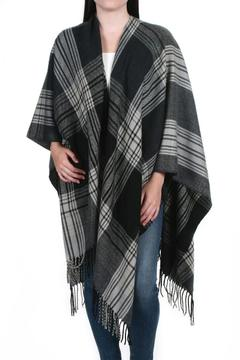 Shoptiques Product: Plaid Fringed Poncho