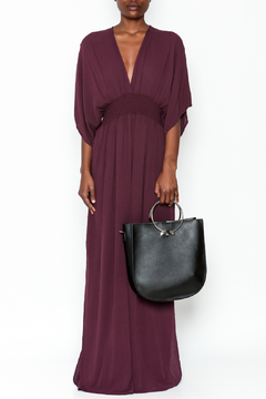 Shoptiques Product: Plunging Plum Maxi Dress
