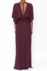 Lovestitch Plunging Plum Maxi Dress - Back cropped
