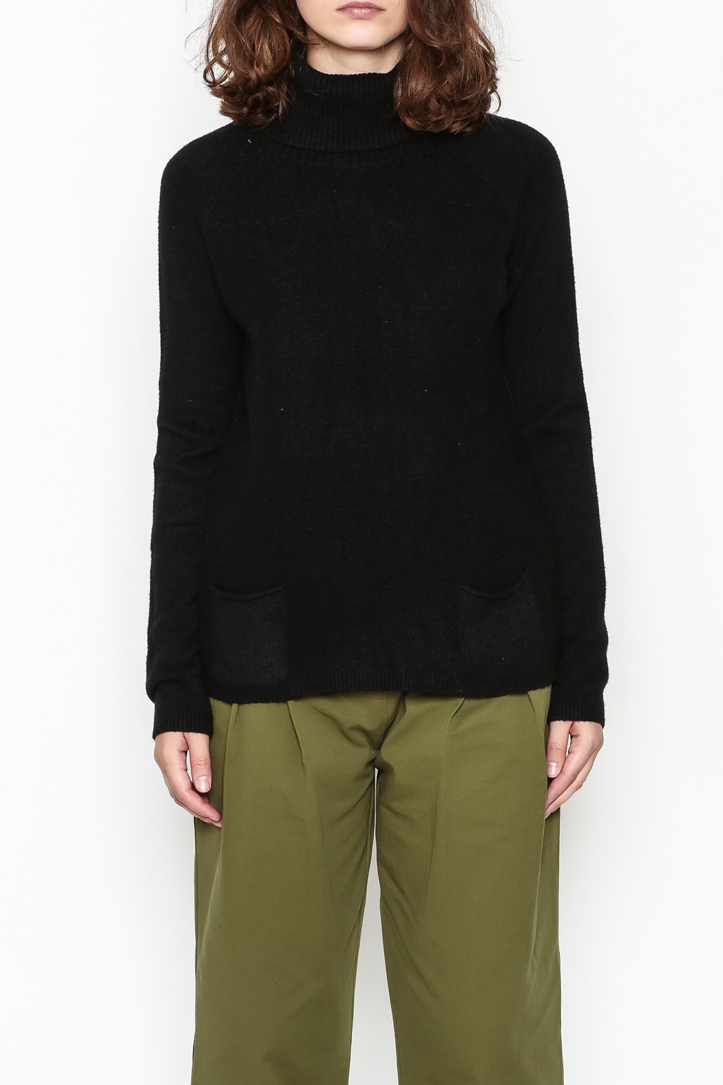 Lovestitch Pocket Turtleneck Pullover - Front Full Image
