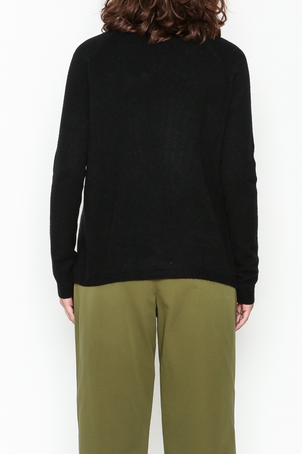 Lovestitch Pocket Turtleneck Pullover - Back Cropped Image