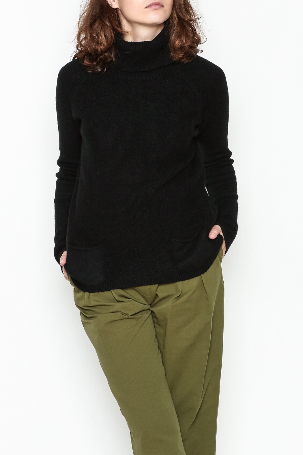 Lovestitch Pocket Turtleneck Pullover - Main Image